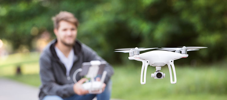 Flying drone liability insurance cover